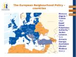 the european neigbourhood policy countries