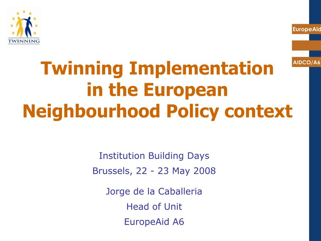 twinning implementation in the european neighbourhood policy context l.