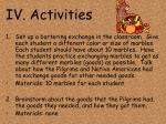 iv activities