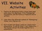 vii website activities