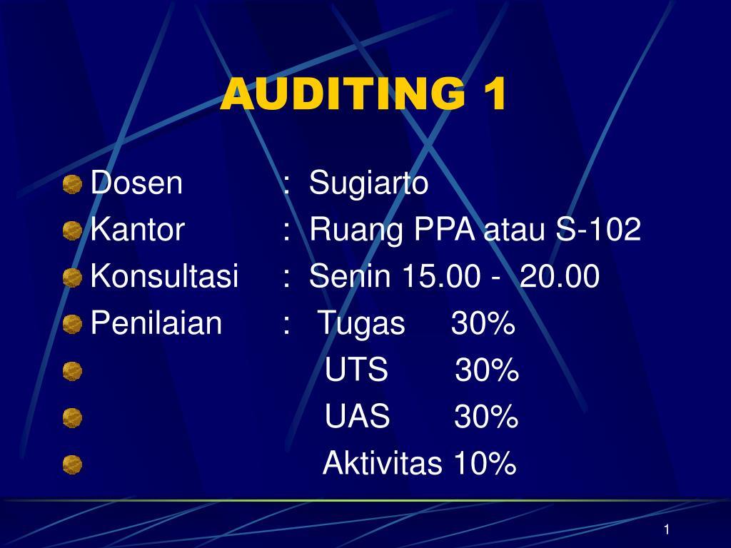 auditing 1 l.