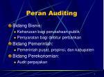 peran auditing