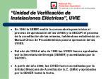 unidad de verificaci n de instalaciones el ctricas uvie7