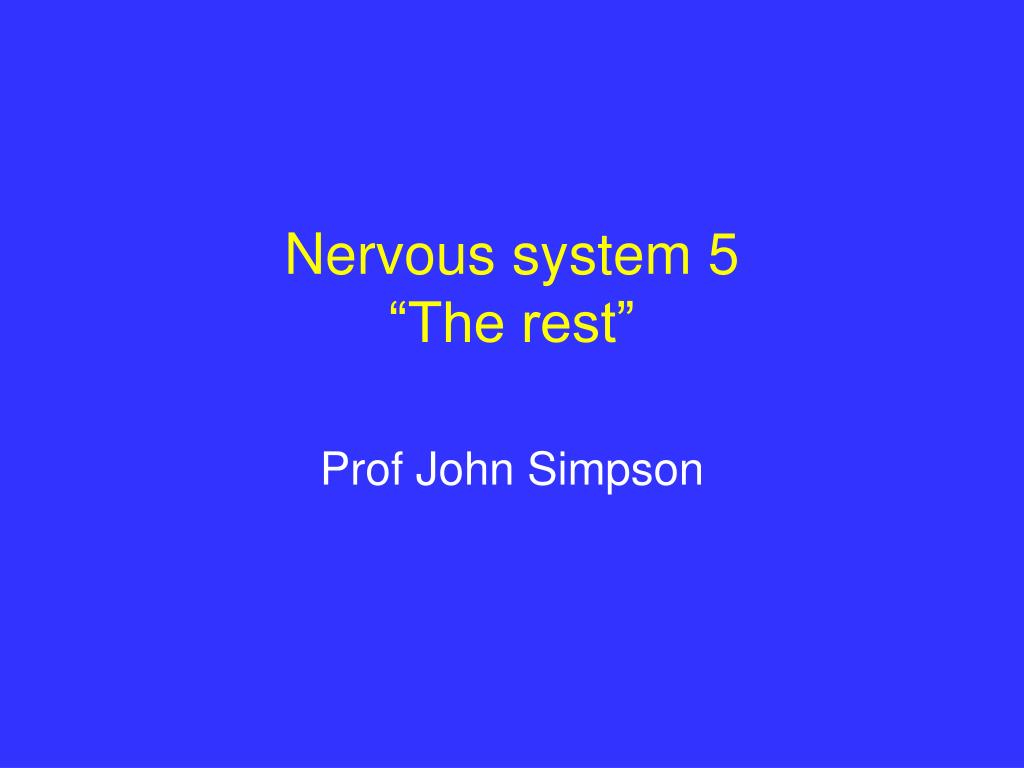 nervous system 5 the rest l.