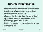 cinema identification