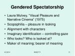 gendered spectatorship