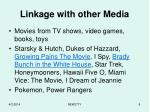 linkage with other media