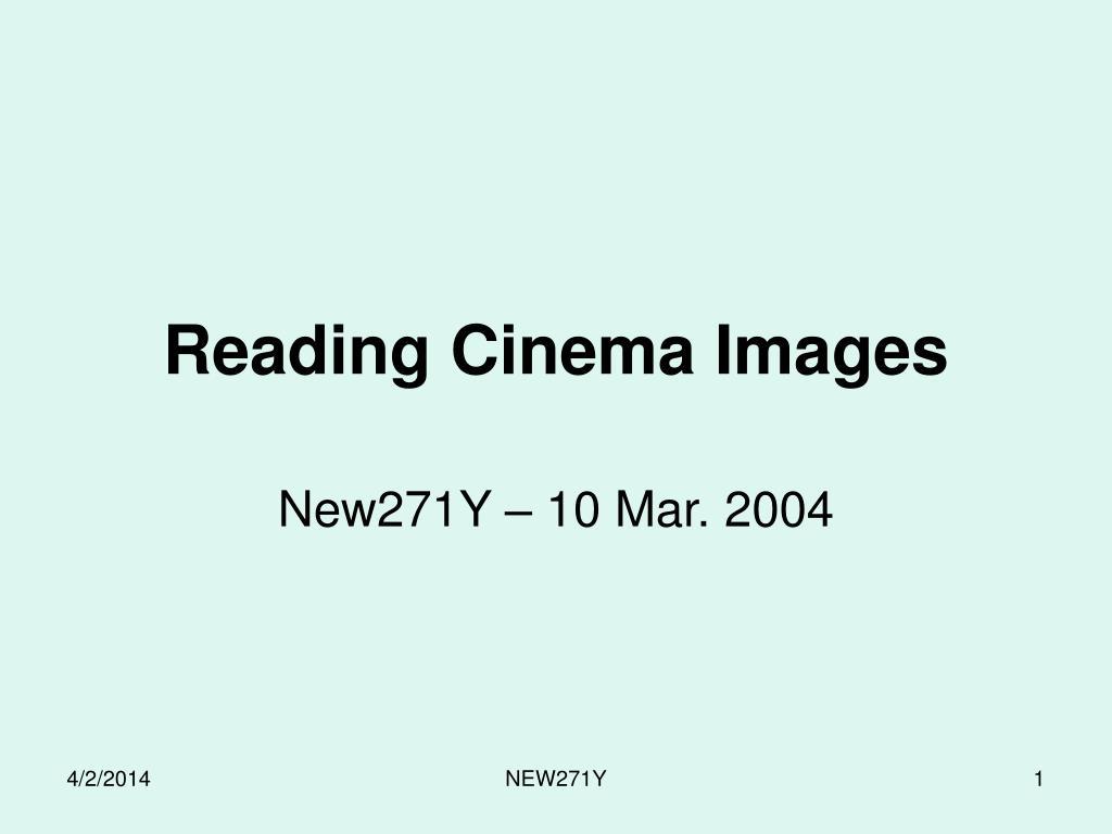 reading cinema images l.