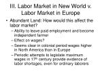 iii labor market in new world v labor market in europe