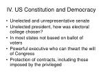 iv us constitution and democracy