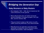 bridging the generation gap7