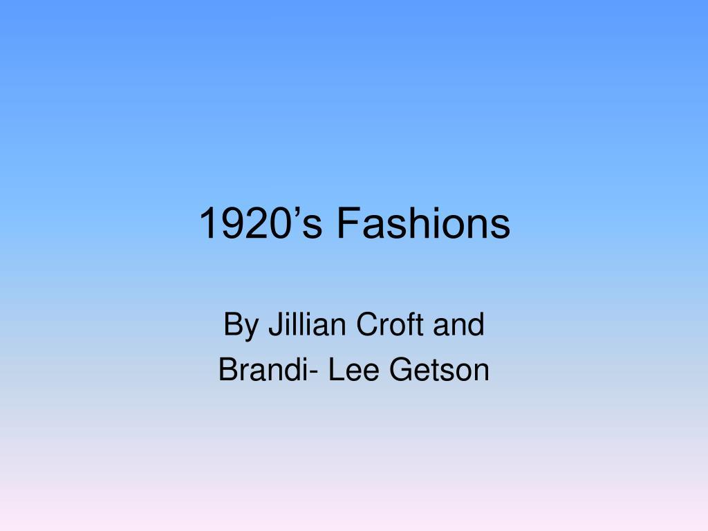 1920 s fashions l.