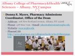 albany college of pharmacy health sciences albany ny campus