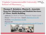 virginia commonwealth university school of pharmacy