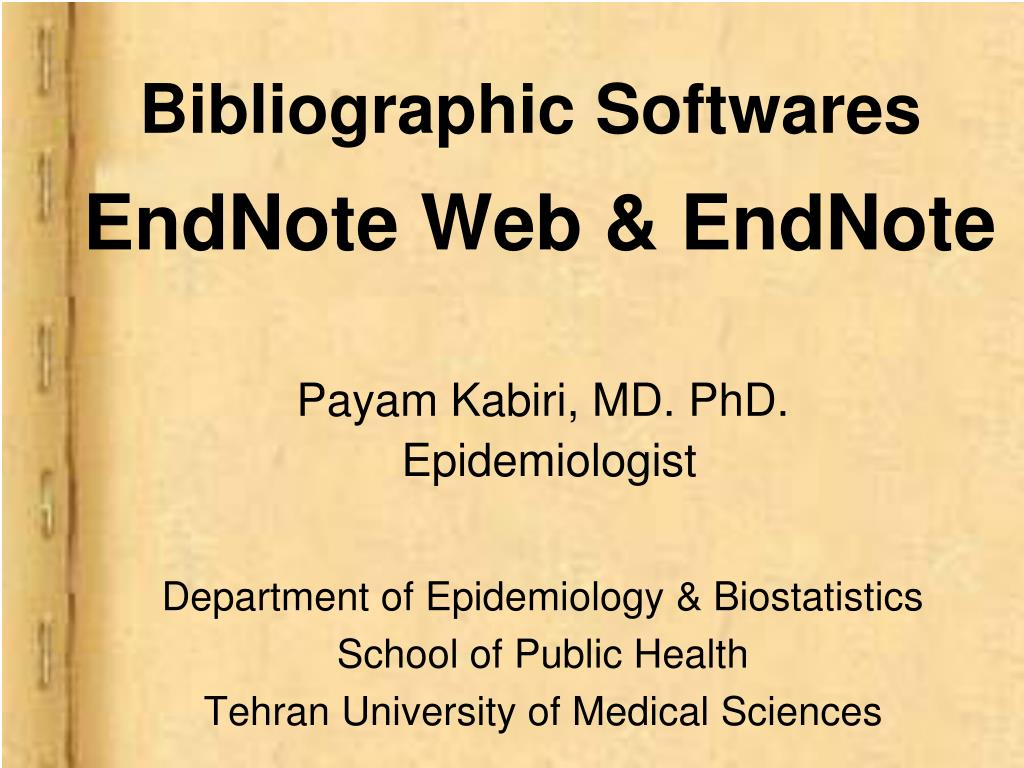 bibliographic softwares endnote web endnote l.