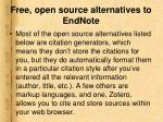 free open source alternatives to endnote