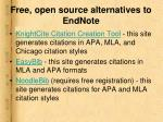 free open source alternatives to endnote20