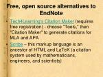 free open source alternatives to endnote21