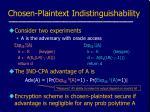 chosen plaintext indistinguishability