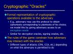 cryptographic oracles