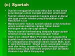 c syariah