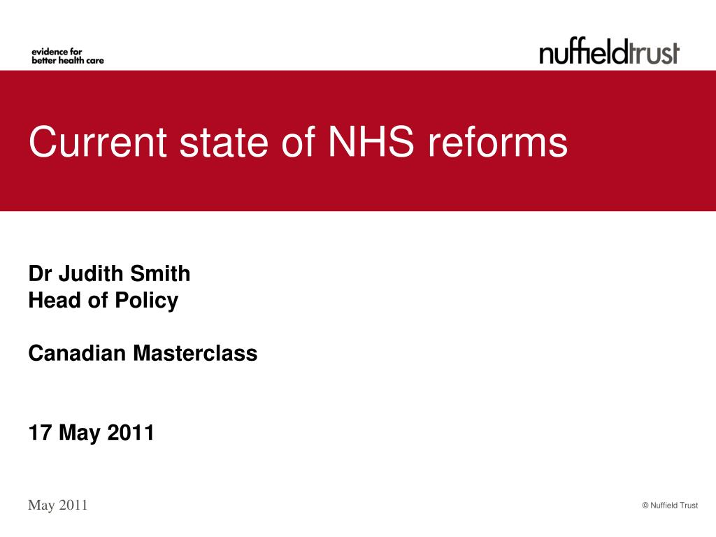 current state of nhs reforms l.