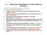 2 1 1 an lisis del cuestionario aplicado a m dicos de planta