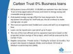 carbon trust 0 business loans