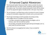 enhanced capital allowances