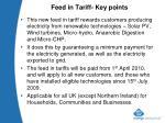 feed in tariff key points