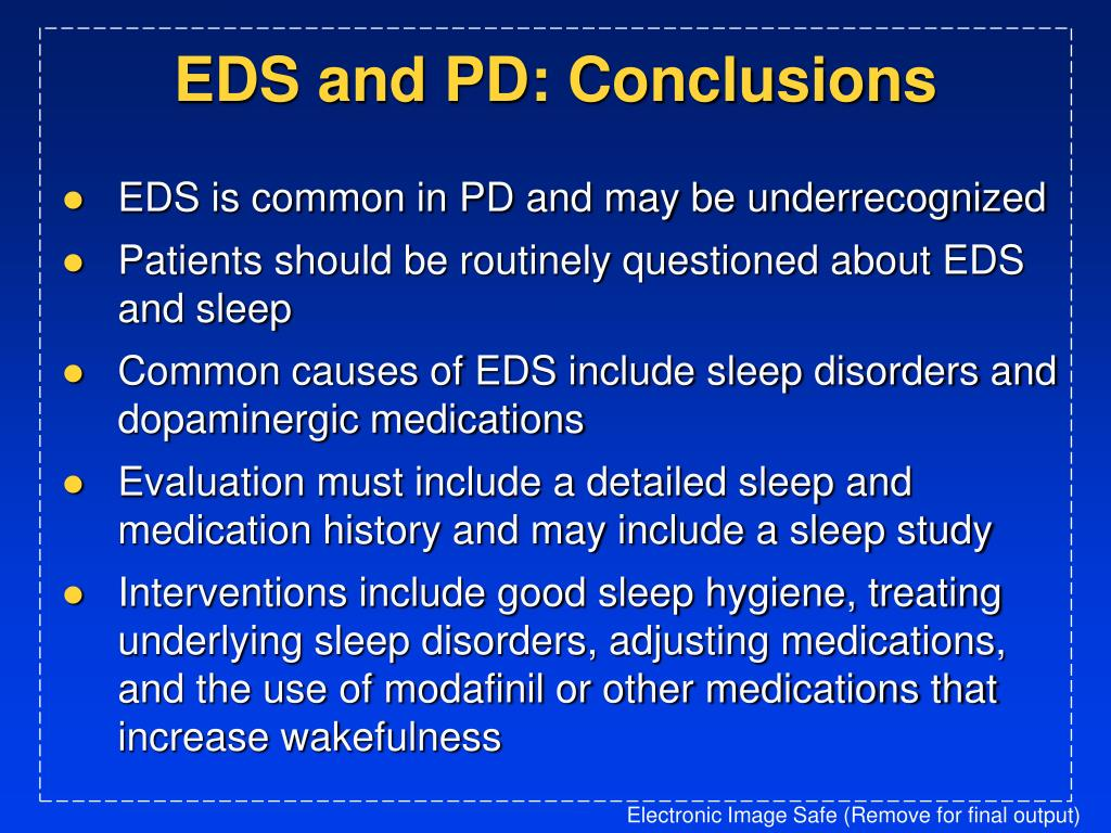 EDS and PD: Conclusions