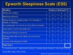 epworth sleepiness scale ess