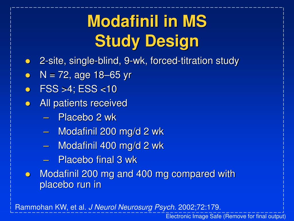Modafinil in MS