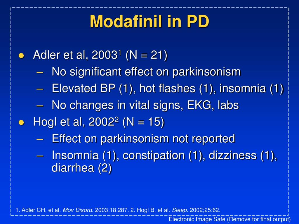 Modafinil in PD
