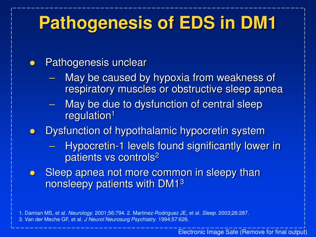 Pathogenesis of EDS in DM1