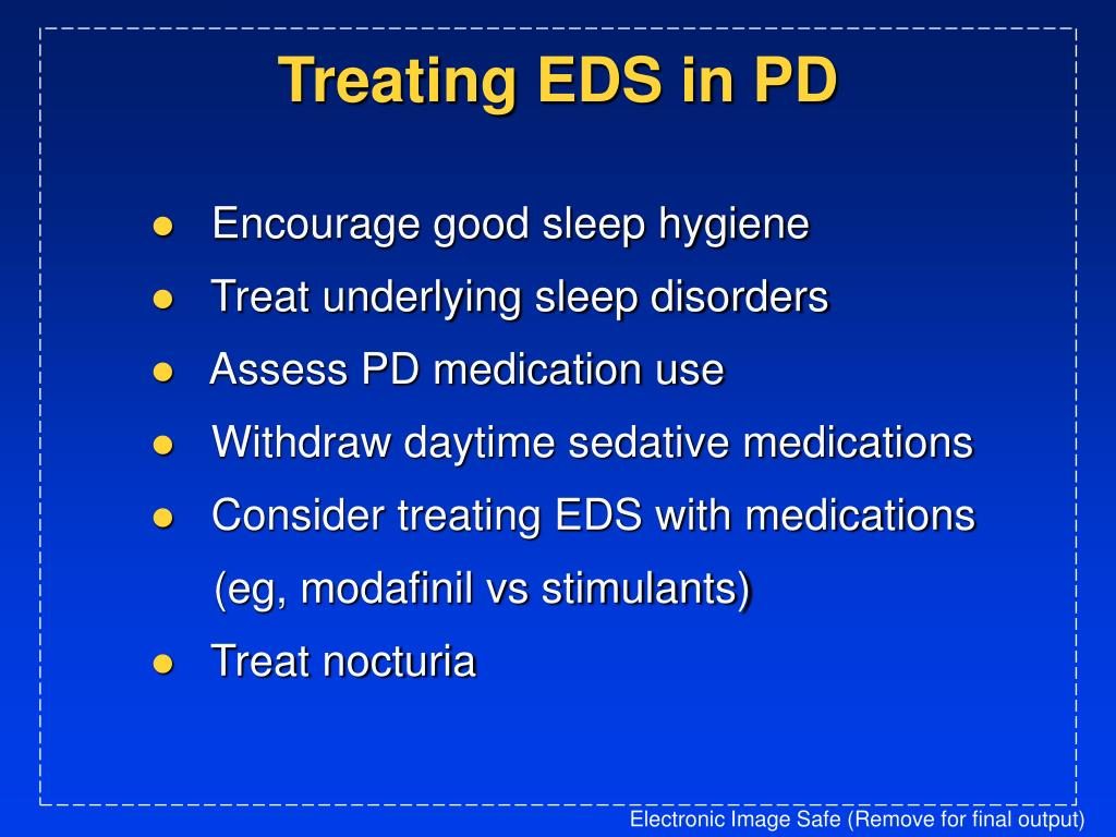 Treating EDS in PD