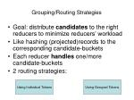 grouping routing strategies