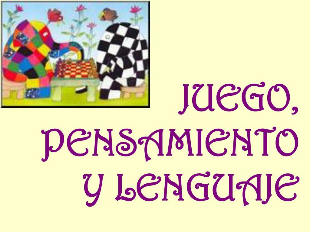 juego pensamiento y lenguaje l.