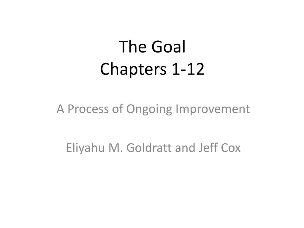 the goal chapters 1 12 l.