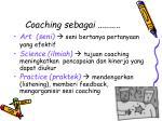 coaching sebagai