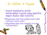 g goal tujuan