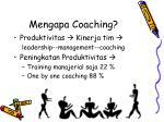 mengapa coaching