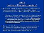 mrsa multidrug resistant infections