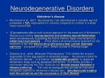 neurodegenerative disorders