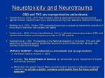neurotoxicity and neurotrauma