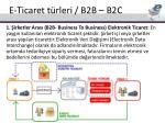 e ticaret t rleri b2b b2c