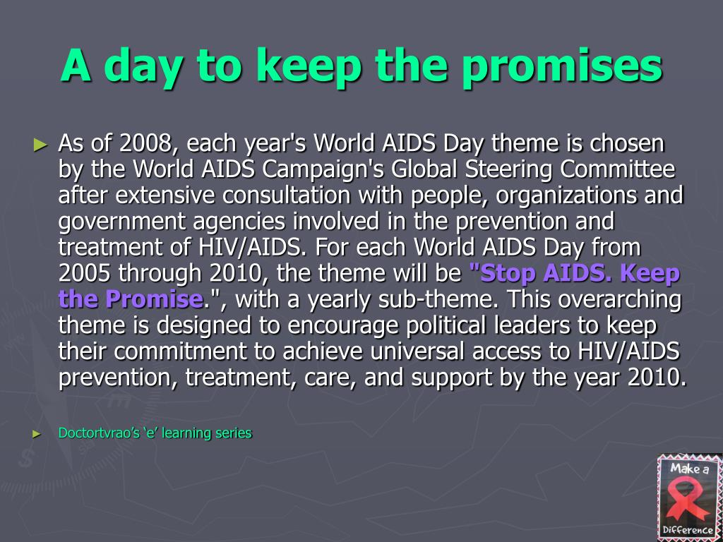 A day to keep the promises