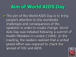 aim of world aids day