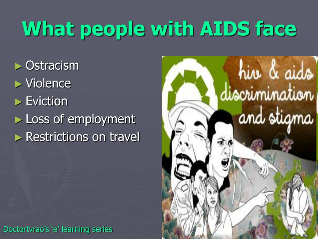 What people with AIDS face