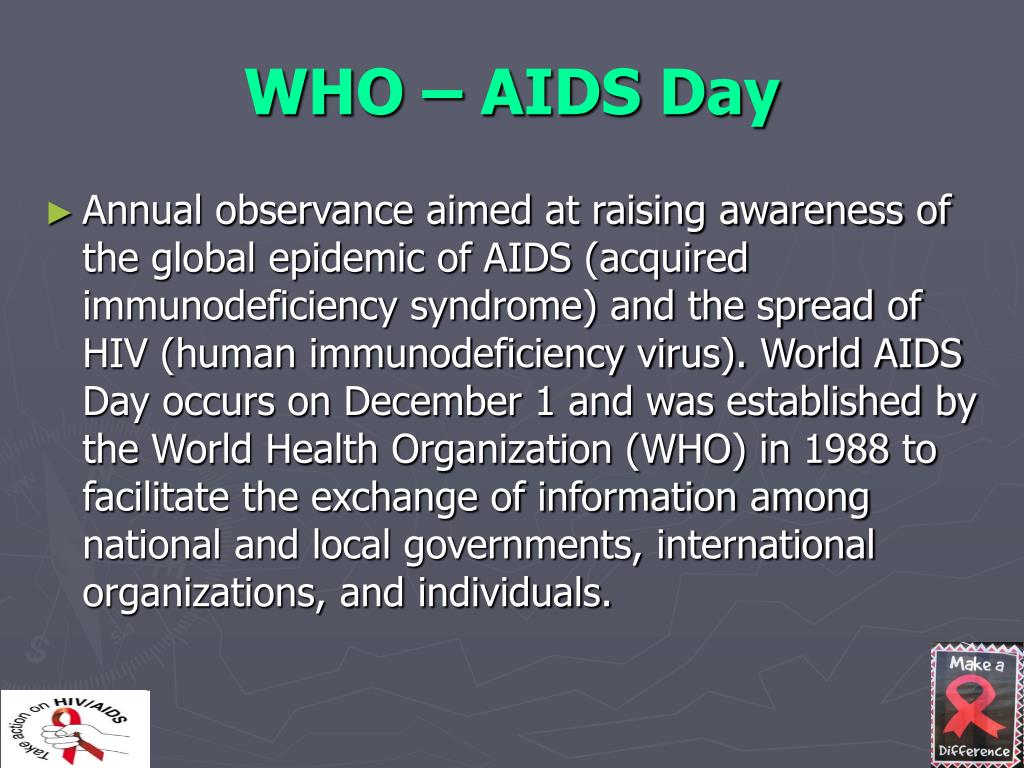 WHO – AIDS Day